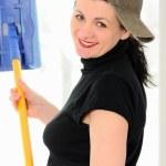 The washerwoman of windows — Stock Photo