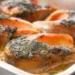 Baked fish - Stock Photo
