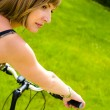 Woman and bike — Stock Photo #1006000