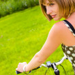 Woman and bike — Stockfoto #1006019