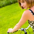 Stock fotografie: Woman and bike