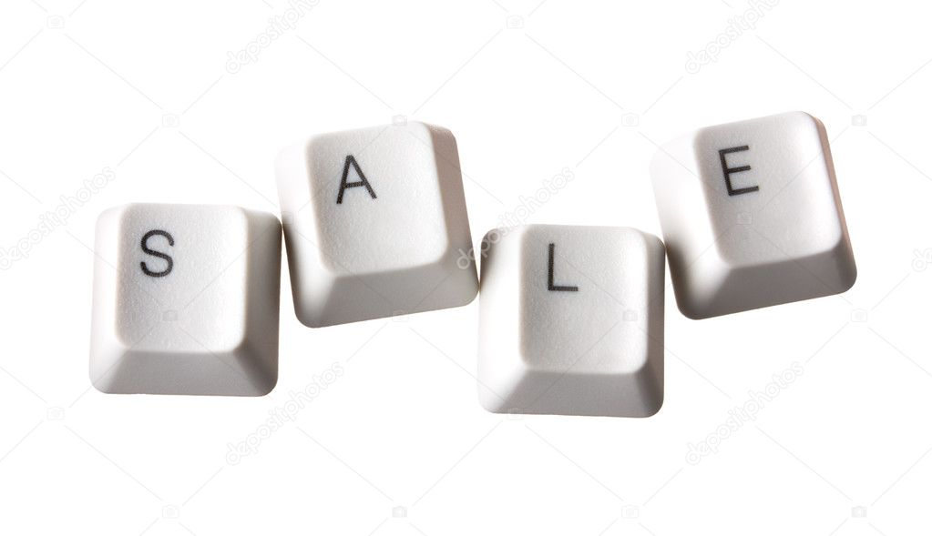 Sale keys on a white isolated — Stock Photo #1014170