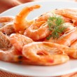 Fresh shrimps — Stock Photo