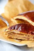 Sweet puff pie — Stock Photo