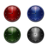 Varicoloured a wall clock — Stock Photo