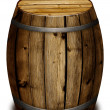 Wooden barrel - Stock Photo