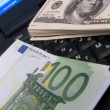 Cash money euro and dollars — Stock Photo