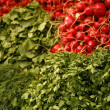 Fresh Vegetables on market stall — Stock Photo
