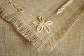 Handcraft serviette Fragment — Stock Photo