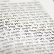 Hebrew Bible Fragment — Stock Photo