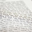Hebrew Bible Fragment — Stock Photo #1040775