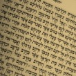 Fragment of Hebrew Bible — Stock Photo #1040796