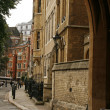 Deanery yard in Westminster Abbey - Stock Photo