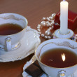 Royalty-Free Stock Photo: Jevelry Gift and Burning Candle