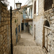 Street in old town Rosh Pina — Stock Photo