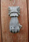 Old door knocker — Stock Photo