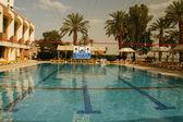 Modrá voda v bazénu — Stock fotografie