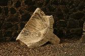 Ruínas de jesus cafarnaum de sinagoga — Fotografia Stock