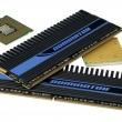 Stock Photo: CPU and memory, hyper DoF.