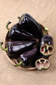 Black sweet pepper — Stock Photo