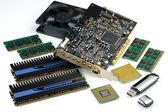 Computer accessories, hyper DoF. — Stock Photo