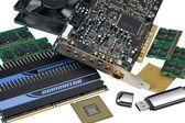 Computer accessories, hyper DoF — Stock Photo
