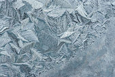 Hoarfrost on glass — Stock Photo