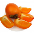 Persimmon, isolated - Stock Photo