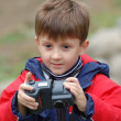 Boy with a camera. — Stock Photo