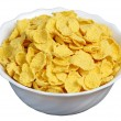Cornflakes in a white cup — Stock Photo