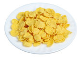 Cornflakes in a white plate — Stock Photo