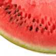 Crop of ripe slice watermelon. — Stock Photo