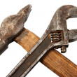 Royalty-Free Stock Photo: Hammer and spanner.
