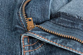 Jeans zipper. — Stock Photo