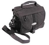 Black bag for camera. — Stock Photo