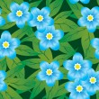 Royalty-Free Stock Imagen vectorial: Abstract forget-me-nots flowers backgrou