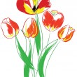 Royalty-Free Stock Векторное изображение: Tulips bouquet.