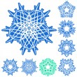 Royalty-Free Stock : Set of five-rays crystal gradient snowfl