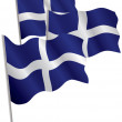 Greece 3d flag. — Stock Vector