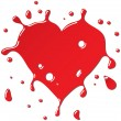 Royalty-Free Stock 矢量图片: Heart as red drops form.