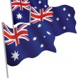 Commonwealth of Australia 3d flag. — Stock Vector