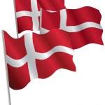 Kingdom of Denmark 3d flag. — Stock Vector #1009176