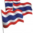 Royalty-Free Stock Vector Image: Thailand 3d flag.