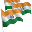 India 3d flag. — Stock Vector