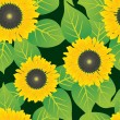 Royalty-Free Stock Imagen vectorial: Abstract sunflowers flowers background.