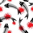 Royalty-Free Stock Imagen vectorial: Skeleton of fish. Fun.