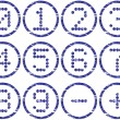 Matrix digits icons set. - Stock Vector