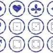 Royalty-Free Stock Vector Image: Games icons set.