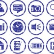 Royalty-Free Stock Imagem Vetorial: Gadget icons set.