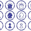 Chess icons set. — Vettoriali Stock